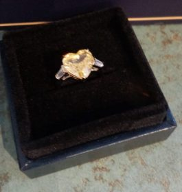 Silver and CZ faceted ring