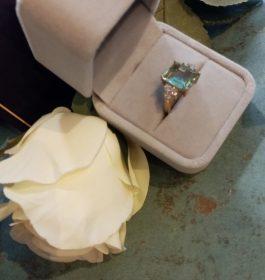 18 carat gold plate ring