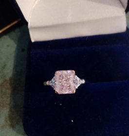 Anster Pink and Enhanced CZ Ring
